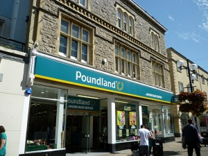 Former Woolworths (now Poundland), Weston-super-Mare (21 Aug 2011). Photograph by Graham Soult