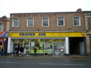 Former Woolworths (now Proper Job), Clevedon (21 Feb 2011). Photograph by Graham Soult
