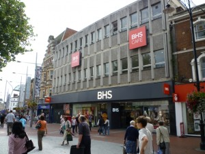 Front of BHS Reading (19 Aug 2011). Photograph by Graham Soult