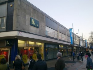 Former BHS, Swindon (4 Jan 2010). Photograph by Brian Robert Marshall