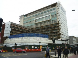 Work underway at John Lewis Exeter (6 Sep 2011). Photograph by Graham Soult