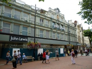 John Lewis Reading's Broad Street frontage (19 Aug 2011). Photograph by Graham Soult