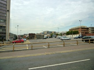 The site intended for Sheffield's new John Lewis (18 Aug 2011). Photograph by Graham Soult