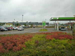 Tamworth's John Lewis dominates the view from the nearby Asda (3 Sep 2011). Photograph by Graham Soult