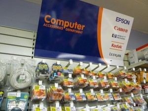Computer accessories at Wellchester (8 Sep 2011). Photograph by Graham Soult