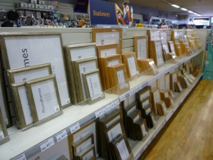 Picture frames at Wellchester (not stationery...) (8 Sep 2011). Photograph by Graham Soult
