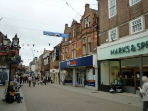 Dorchester's busy South Street (8 Sep 2011). Photograph by Graham Soult