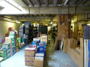 Wellchester's stockroom, Dorchester (8 Sep 2011). Photograph by Graham Soult