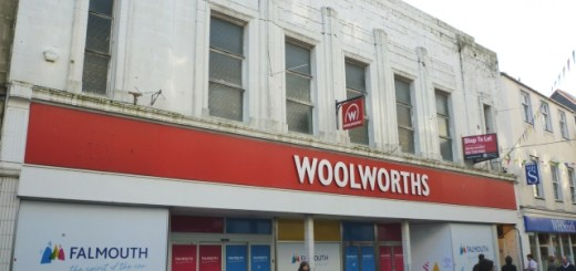 Former Woolworths, Falmouth (19 Feb 2011). Photograph by Graham Soult