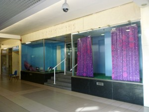 Newgate Centre entrance to former Woolworths (30 Sep 2011). Photograph by Graham Soult