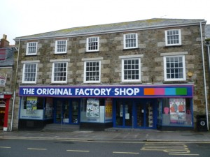 Former Woolworths (now The Original Factory Shop), Helston (20 Feb 2011). Photograph by Graham Soult