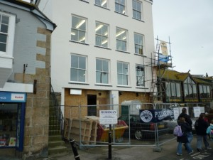 Former Woolworths (now Pizza Express), St Ives (20 Feb 2011). Photograph by Graham Soult