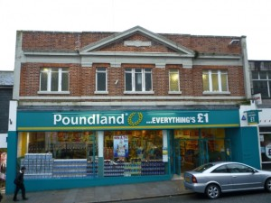 Former Woolworths (now Poundland), Penzance (20 Feb 2011). Photograph by Graham Soult