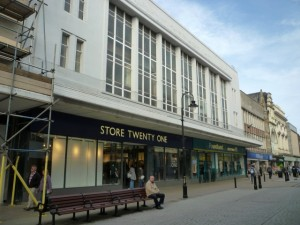 Former Woolworths (now Store Twenty One and Poundland), South Shields (22 Sep 2011). Photograph by Graham Soult