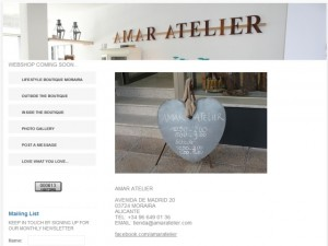Screenshot of Amar Atelier website (23 Oct 2011)