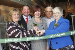 Cutting the ribbon at John Lewis Tamworth