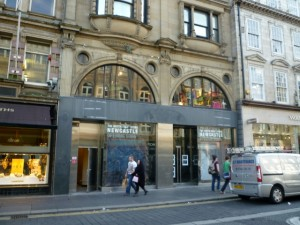 The North Face, Newcastle, four days ago (26 Oct 2011). Photograph by Graham Soult