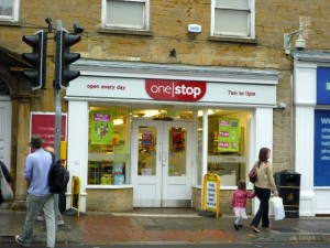 Tesco-owned One Stop, Crewkerne (10 Sep 2011). Photograph by Graham Soult