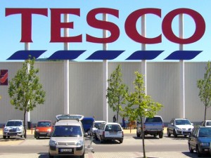 Tesco in Eger, Hungary (15 Jul 2006). Photograph by Graham Soult