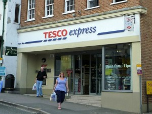 Tesco Express, Lyme Regis (4 Sep 2011). Photograph by Graham Soult
