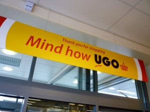 Signage at UGO Lundwood (11 Oct 2011). Photograph by Graham Soult