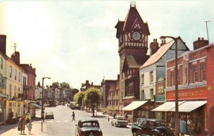 Postcard of Ledbury Woolworths, sent in 1975