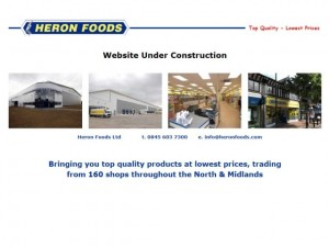 Previous Heron Foods holding page (17 Nov 2011)