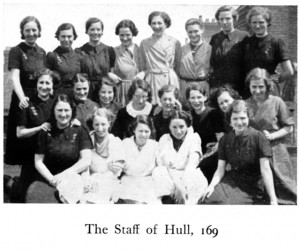 Staff of Hessle Road Woolworths in 'The New Bond', October 1937