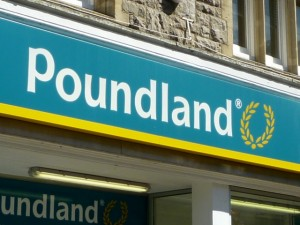 Poundland fascia. Photograph by Graham Soult