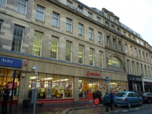 Poundstretcher, Newcastle (4 Nov 2011). Photograph by Graham Soult