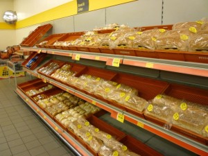 Woodhead bread products at UGO Boothferry (11 Oct 2011). Photograph by Graham Soult