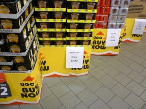 Baked bean deal at UGO Lundwood (11 Oct 2011). Photograph by Graham Soult