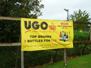 Banner at UGO Monk Bretton (11 Oct 2011). Photograph by Graham Soult