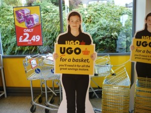Basket POS at UGO Monk Bretton (11 Oct 2011). Photograph by Graham Soult