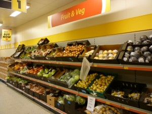 Fruit and veg at UGO Monk Bretton (11 Oct 2011). Photograph by Graham Soult