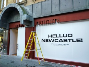 Upcoming Urban Outfitters, Newcastle (29 Nov 2011). Photograph by Graham Soult