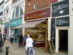 Woodhead store in the bakery's native Scarborough (24 Jun 2011). Photograph by Graham Soult