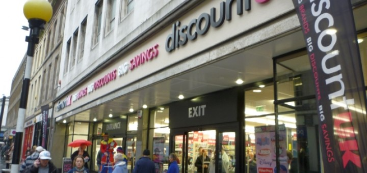 Discount UK (former Woolworths), Newcastle (4 Nov 2011). Photograph by Graham Soult
