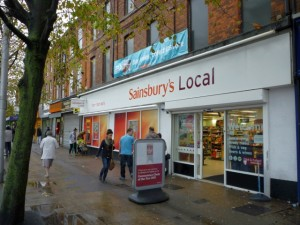 Sainsbury's Local (formerly Woolworths), Hessle Road, Hull (11 Oct 2011). Photograph by Graham Soult