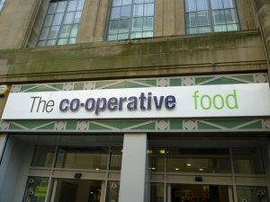 New Co-operative Food signage (20 May 2010). Photograph by Grahma Soult