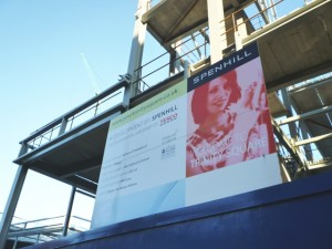 Poster at Trinity Square, Gateshead (18 Dec 2011). Photograph by Graham Soult