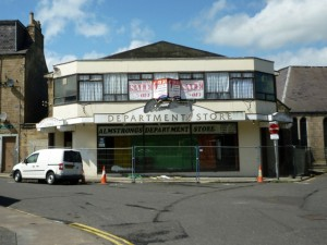 Former Almstrongs department store, Hawick (29 May 2011). Photograph by Graham Soult