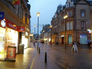Channel Street, Galashiels (27 Dec 2011). Photograph by Graham Soult