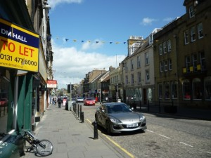High Street, Hawick (29 May 2011). Photograph by Graham Soult