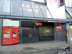 HMV Newcastle (1 Jan 2012). Photograph by Graham Soult