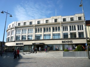House of Fraser (Binns), Darlington (1 Mar 2011). Photograph by Graham Soult
