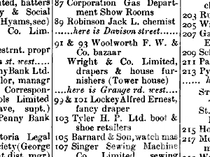 Extract from 1913 Kelly's Directory for the North Riding (p.216)