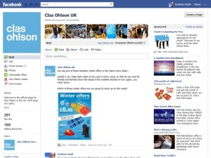 Clas Ohlson Facebook page (15 Feb 2012)