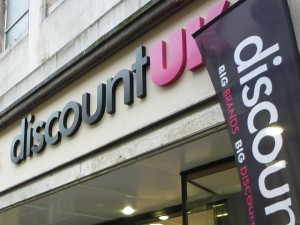 Discount UK fascia. Photograph by Graham Soult
