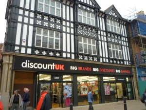 Discount UK (former M&S), Rotherham (3 Nov 2011). Photograph by Graham Soult